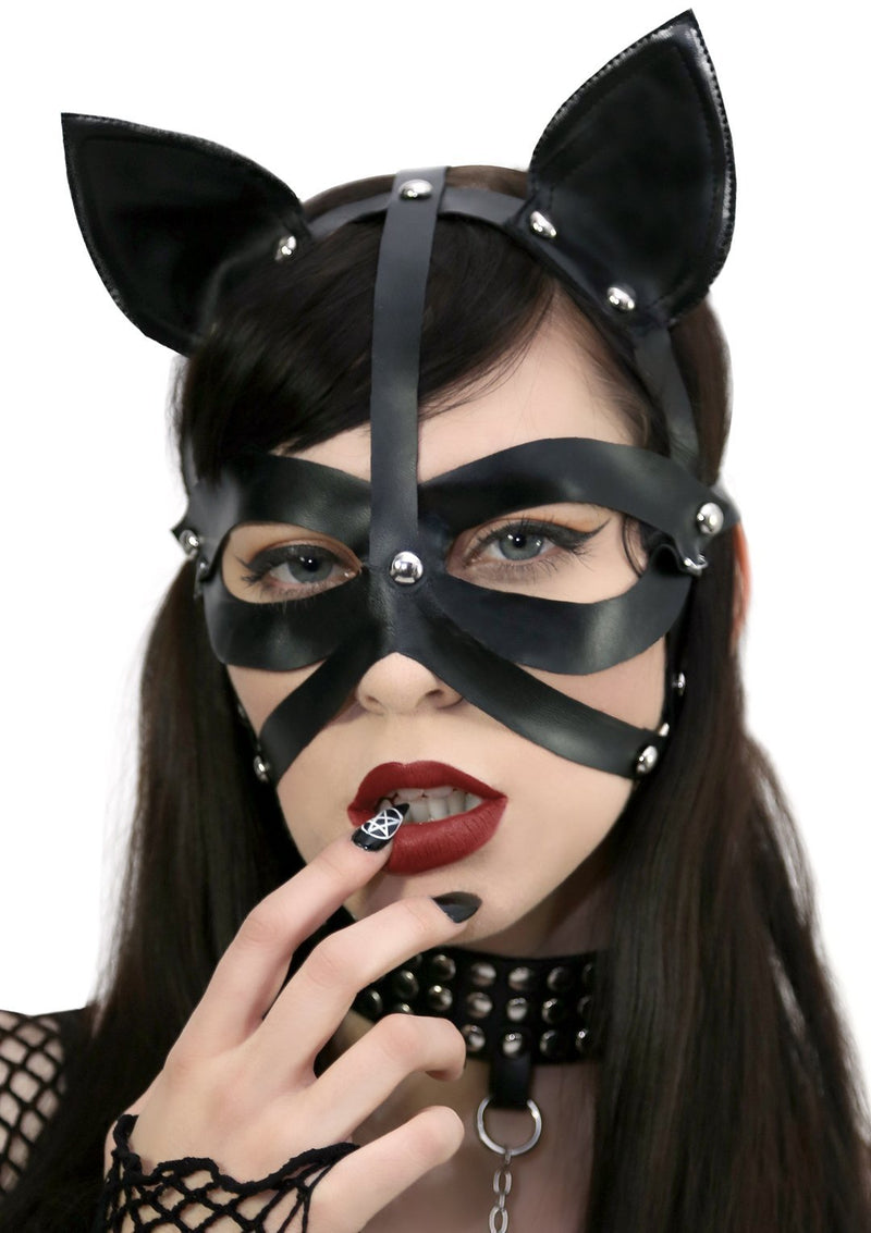 Harness Cat Mask Black