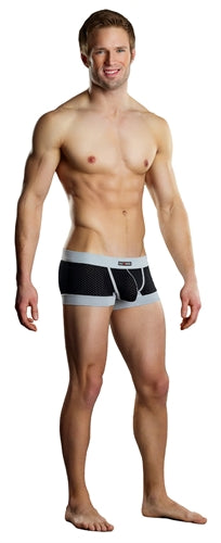 Sport Short Athletic Mesh - Extra Large Black and Grey