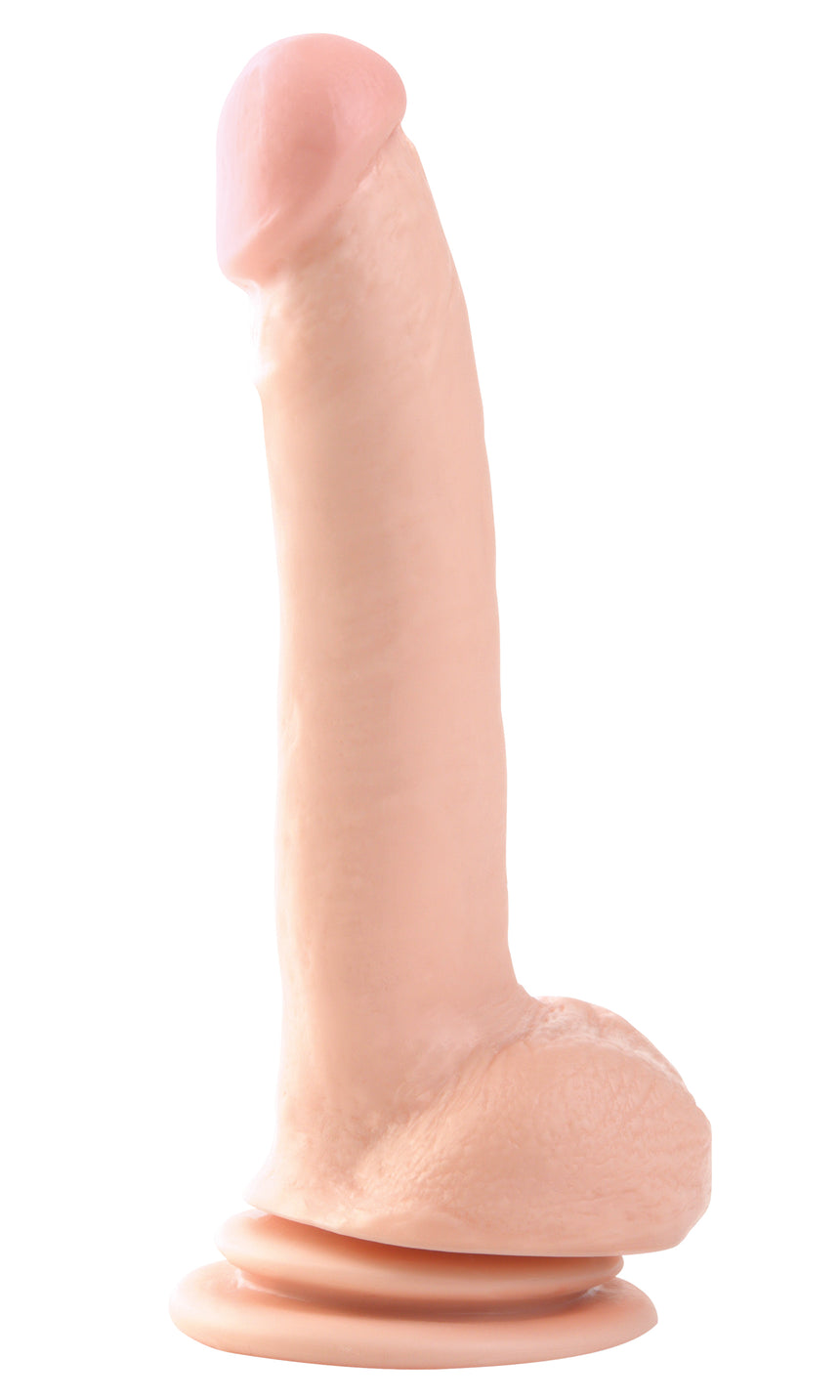Basix Rubber Works 9 Inch Suction Cup Dong - Flesh