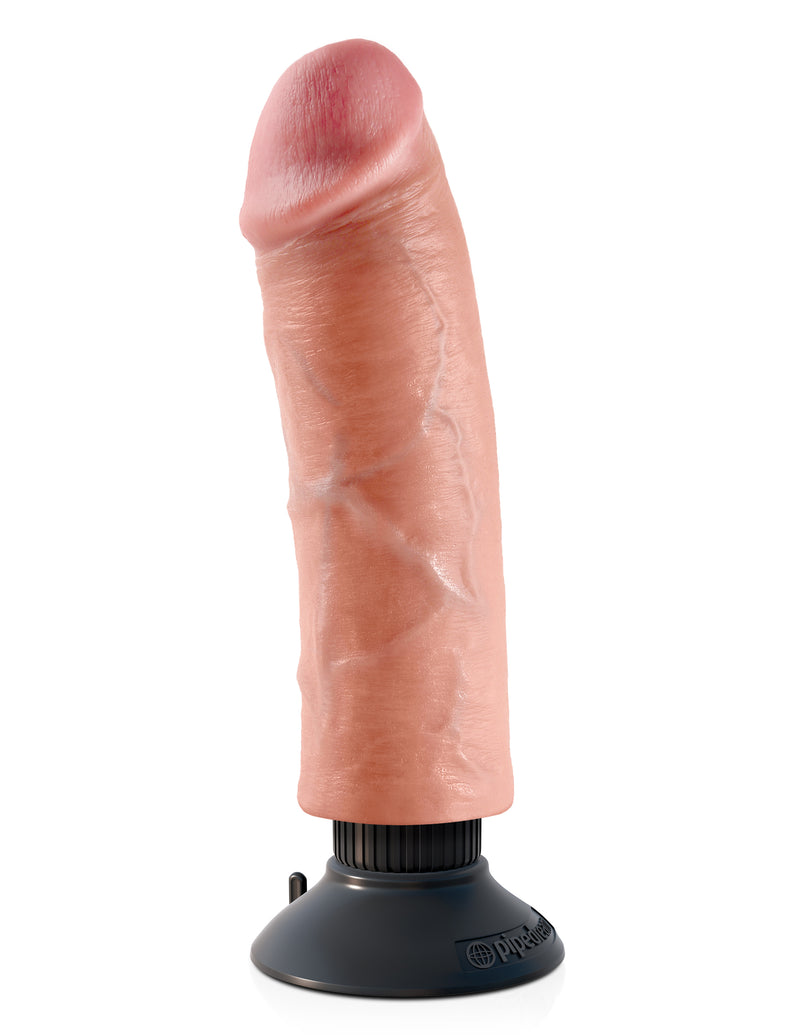 King Cock 8-Inch Vibrating Cock - Light