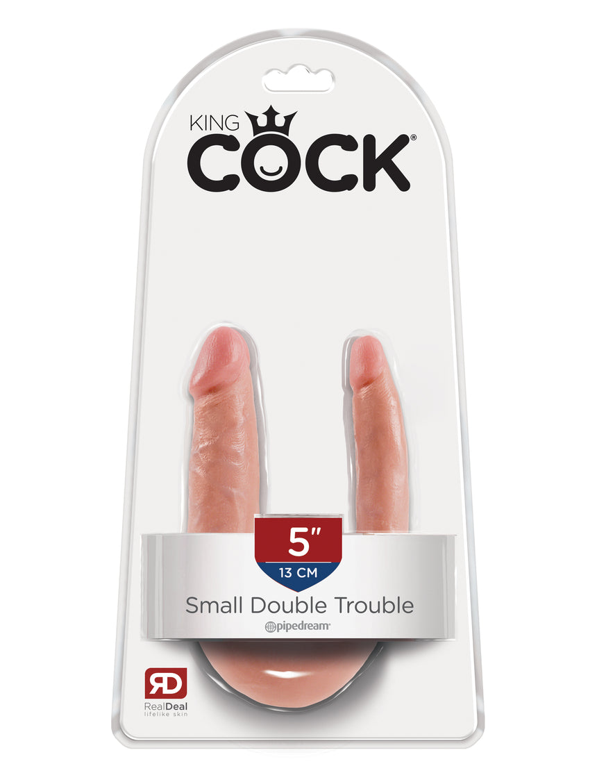King Cock Small Double Trouble - Flesh