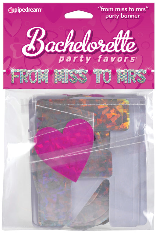 Bachelorette Party Favors - From Miss to Mrs. Banner