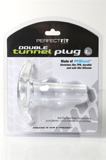 Double Tunnel Plug Large - Clear