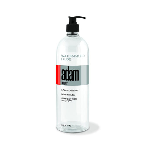 Adammale Water-Based Glide - 34 Fl. Oz.- 1005 ml