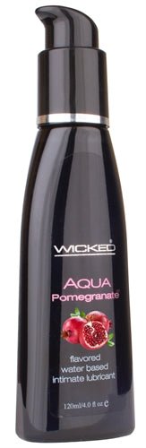 Aqua Pomegranate Flavored Water-Based Intimate Lubricant 2 Oz.