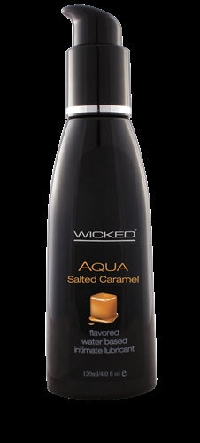 Aqua Salted Caramel Flavored Water-Based Intimate Lubricant 2 Oz.