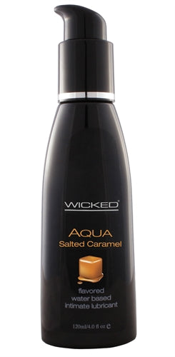 Aqua Salted Caramel Water-Based Lubricant - 4 Oz.
