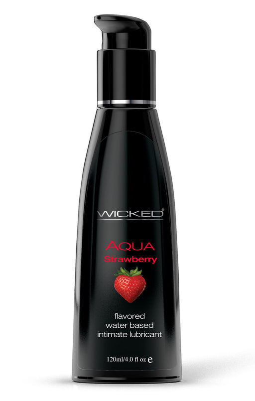 Aqua Strawberry Water-Based Lubricant 4 Oz