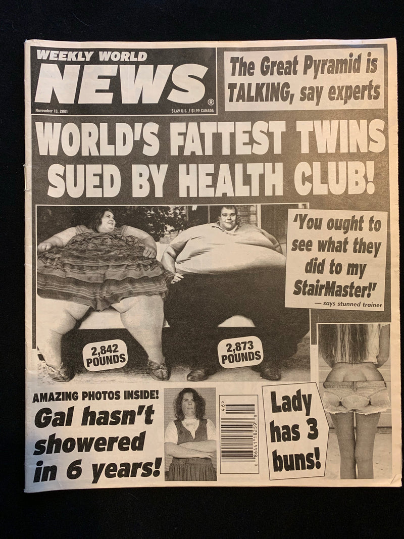 WEEKLY WORLD NEWS - NOVEMBER 13 2001
