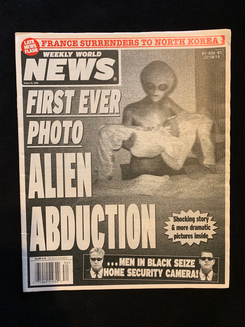 WEEKLY WORLD NEWS - AUGUST 26 2003