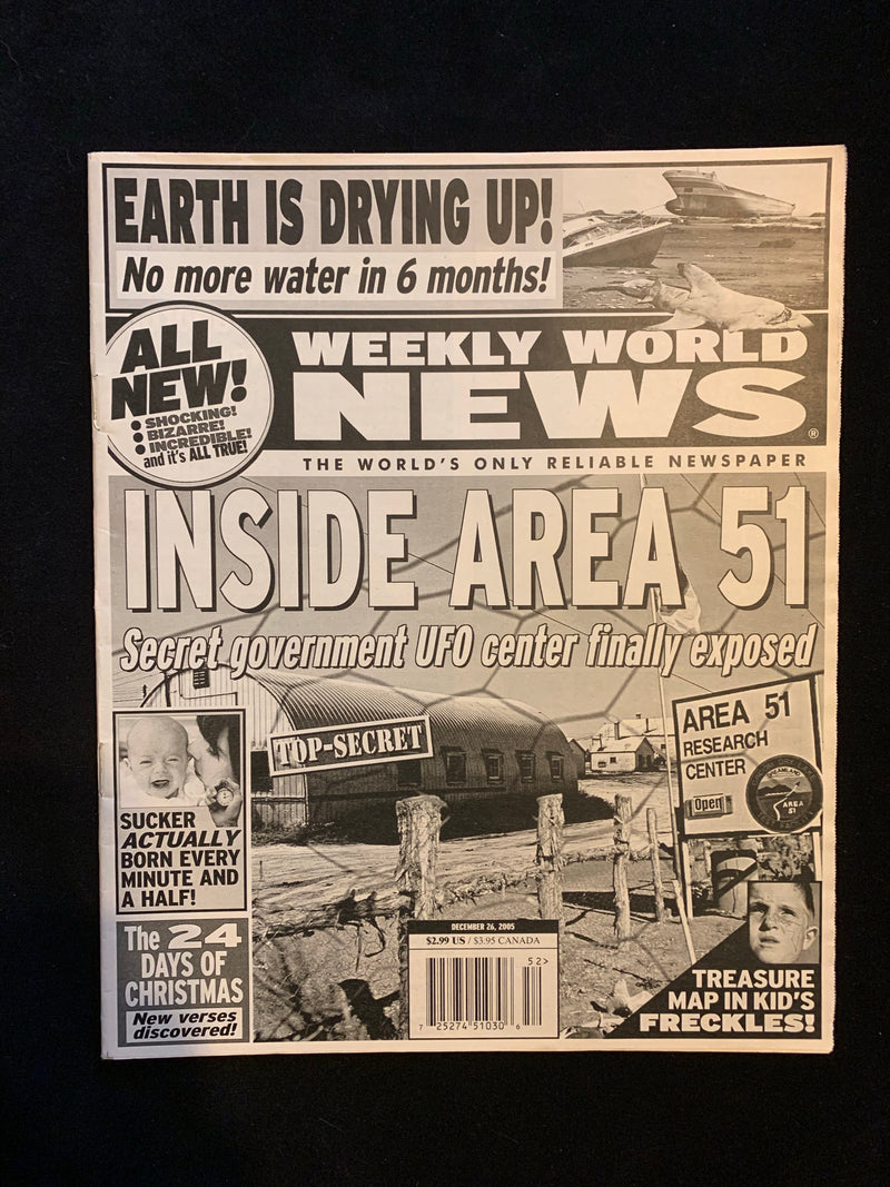 WEEKLY WORLD NEWS - DECEMBER 26 2005