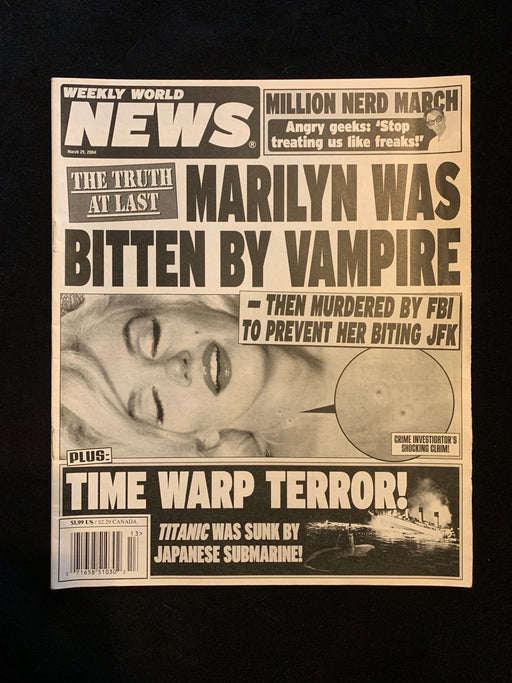 WEEKLY WORLD NEWS - MARCH 29 2004
