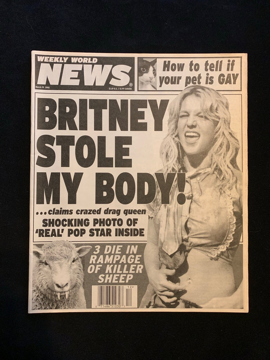 WEEKLY WORLD NEWS - MARCH 19 2002