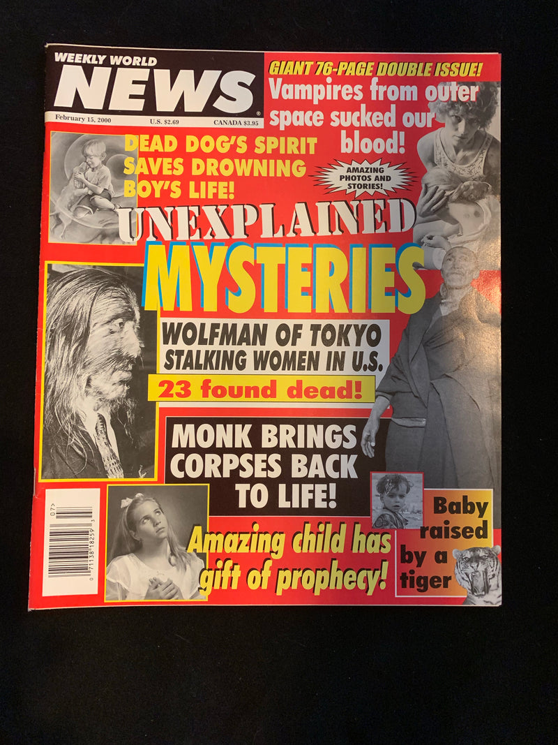 WEEKLY WORLD NEWS - FEBRUARY 15 2000
