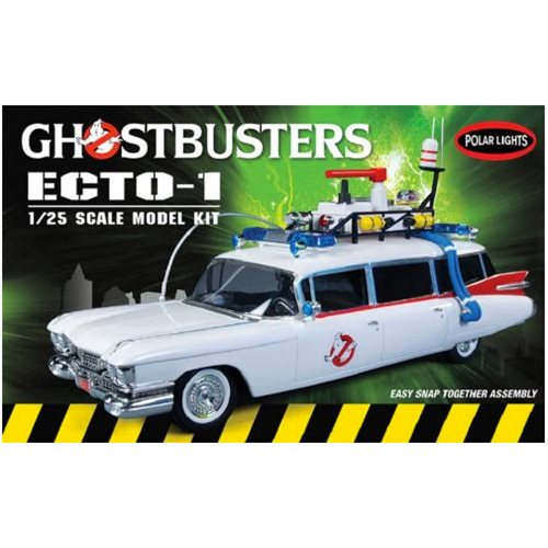 Ghostbusters Ecto-1 with Slimer Figure Snap Fit Model Kit
