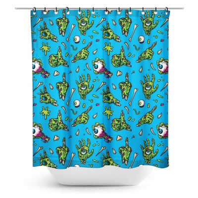 ZOMBIE HANDS SHOWER CURTAIN