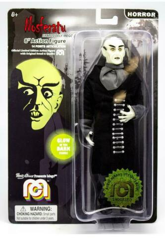 "Mego Action Figure, 8"" Glow in the Dark Nosferatu with Black Coat (Limited Edition)"