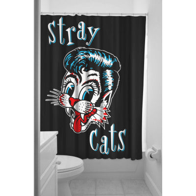 STRAY CATS SHOWER CURTAIN