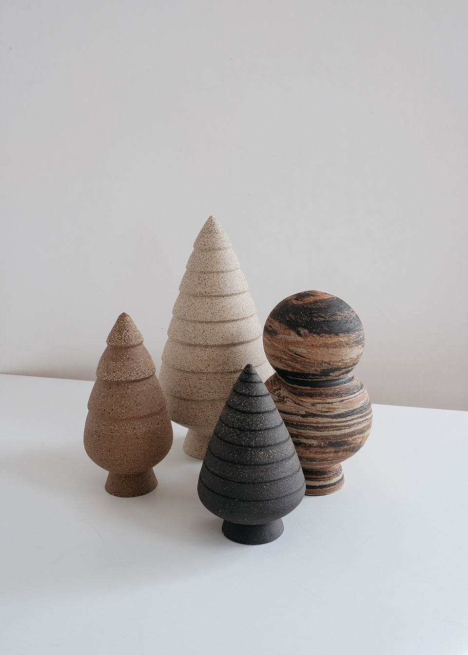 Spruce Sculptures Set 2