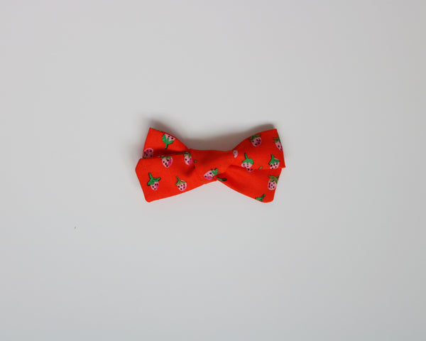 Red Strawberry Fields School Girl Bow