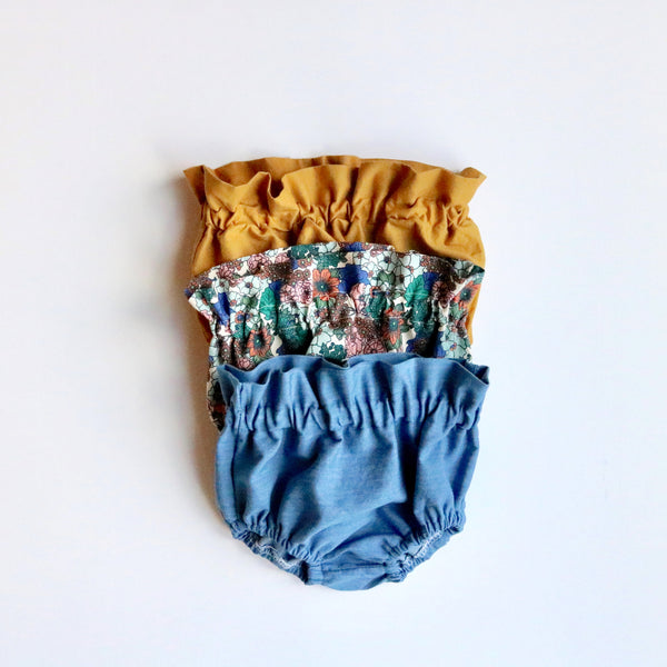 Chambray High Waisted Bloomers
