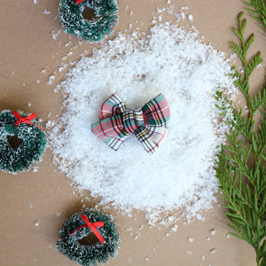 Christmas Plaid Chunky Bow - Christmas Collection