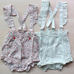 Grace Floral Suspender Shorts