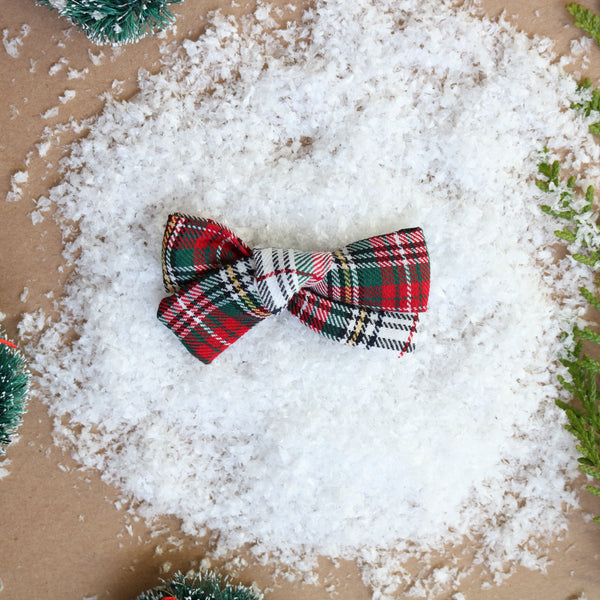 Christmas Plaid School Girl Bow - Christmas Collection