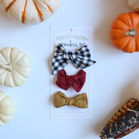 Autumn Breeze Bow Set