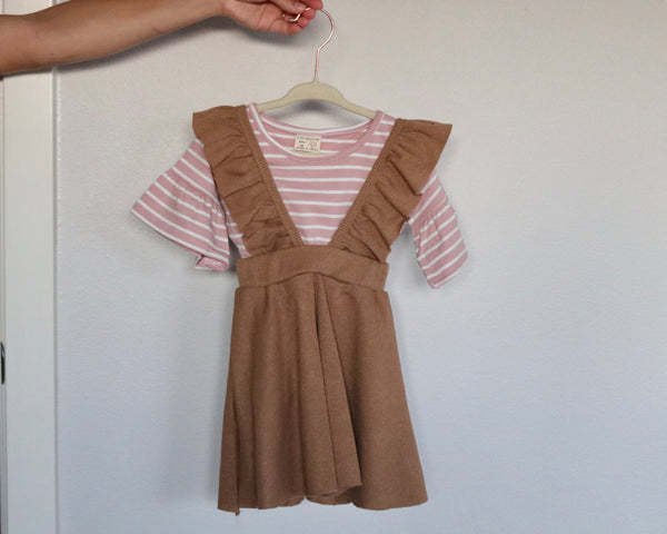 Caramel Suspender Skirt