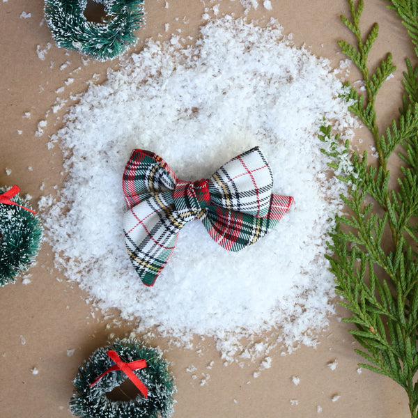 Christmas Plaid Lola Bow - Christmas Collection
