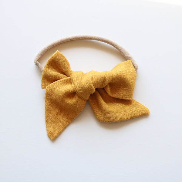 Honey Mustard Lola Bow