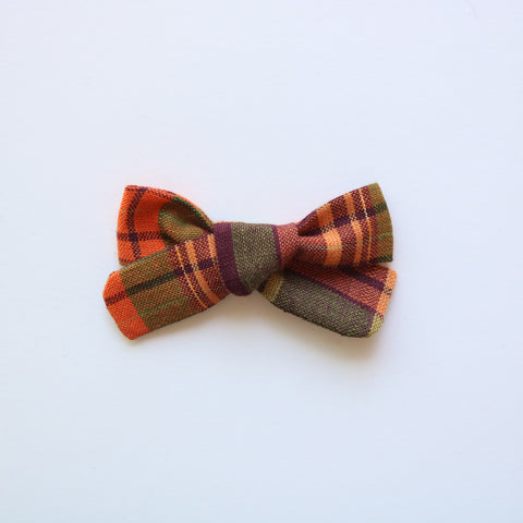 Autumn Forest School Girl Bow