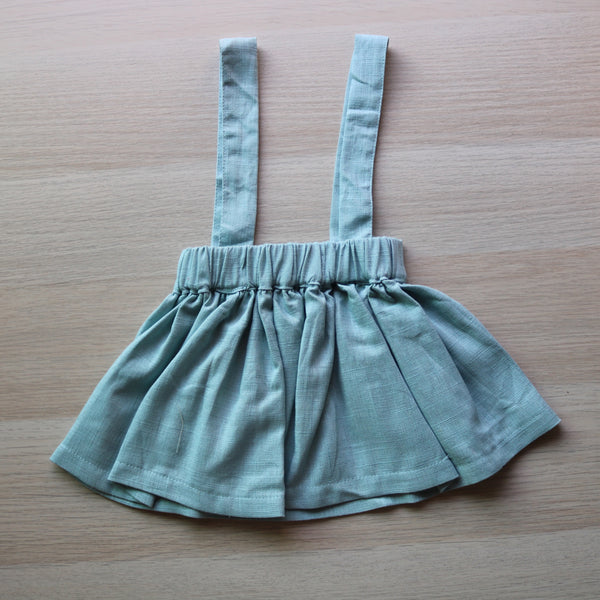 Linen Suspender Skirt
