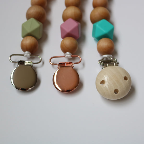 The Bare Bead Pacifier Clip Collection