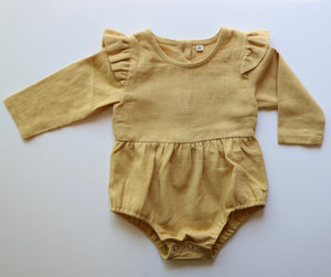 Autumn Ruffle Onesie In Honey