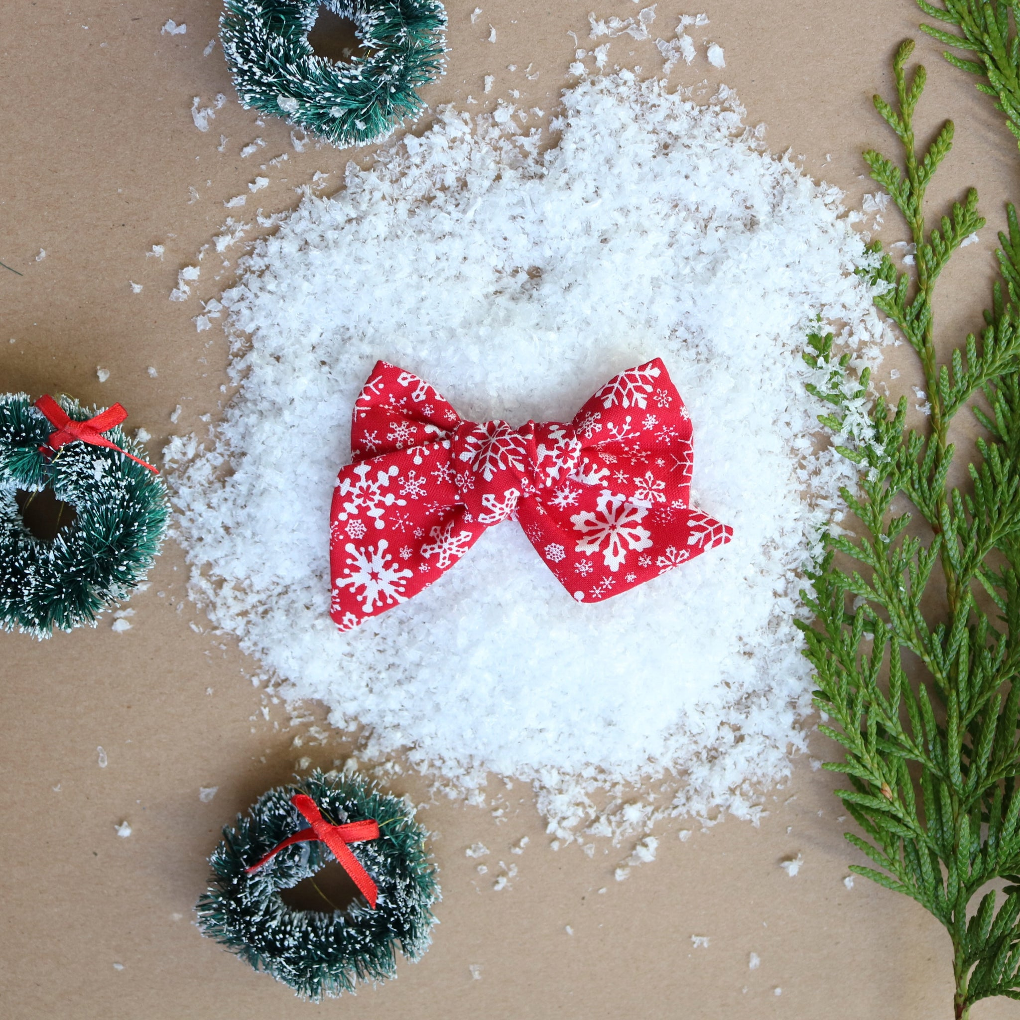Snowflake Lane Lola Bow - Christmas Collection