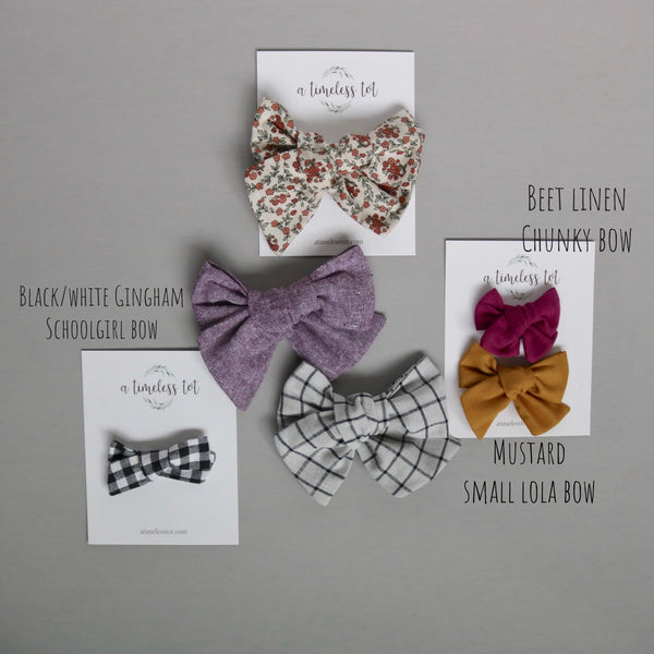 Fall Lola Bow Collection