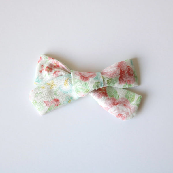 Morning Floral School Girl Bow