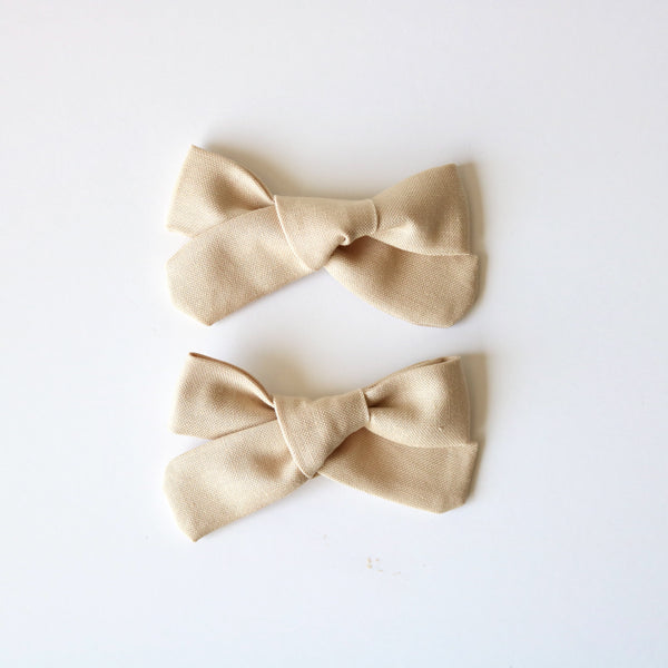 Beige School Girl Bow