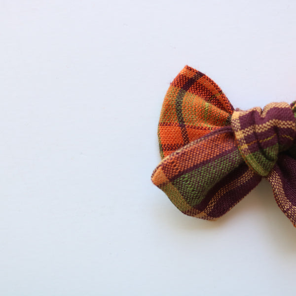 Autumn Forest Chunky Bow