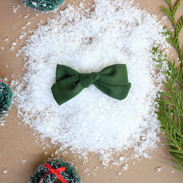Classic Green School Girl Bow - Christmas Collection
