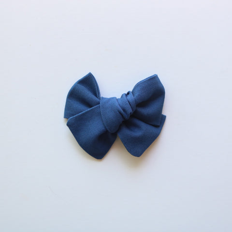 Admiral Blue Chunky Bow