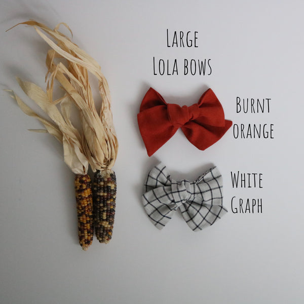 Fall Ella, Schoolgirl & Chunky Bow Collection