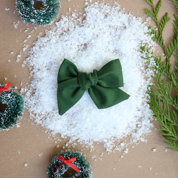 Classic Green Lola Bow - Christmas Collection