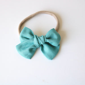 Light Teal Chunky Bow