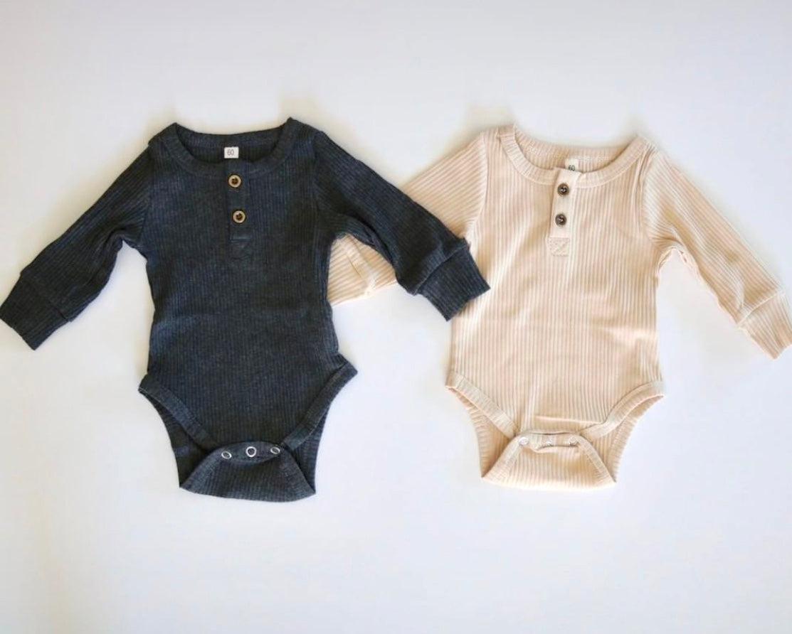 Ribbed Long Sleeve Onesie