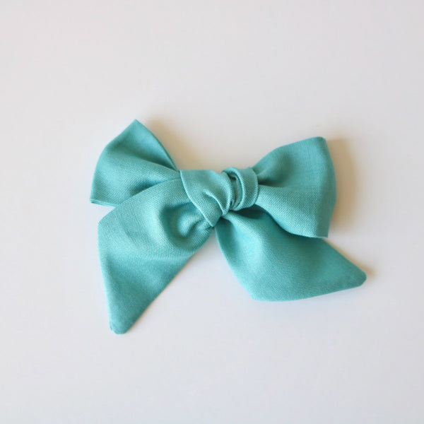 Light Teal Lola Bow