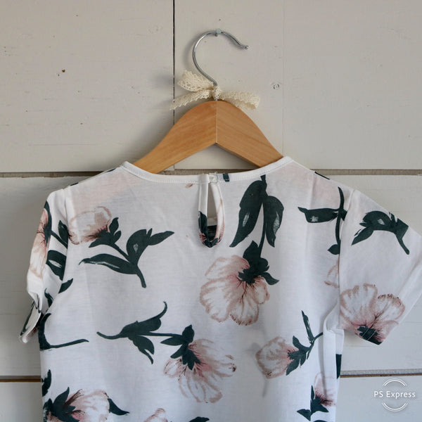 Spring Floral Top In White