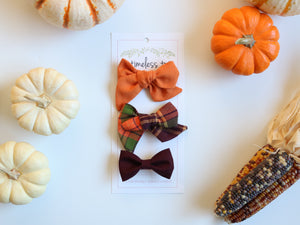 Autumn Leaves Bow Set